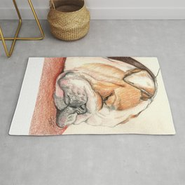 English bulldog Alfie Rug