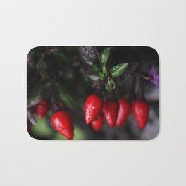 Red Hot Garden Salsa Chili Peppers. Bath Mat