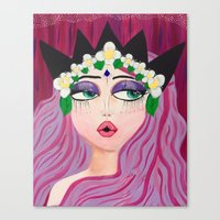 karen hallion Canvas Prints featuring Karen by ThePinkElefant