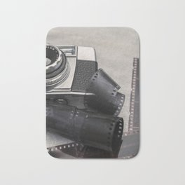 Vintage Camera and Film Bath Mat