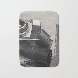Vintage Camera and Film Bath Mat