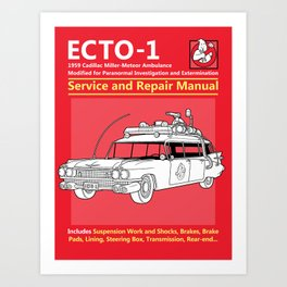 ECTO-1 Service and Repair Manual Art Print