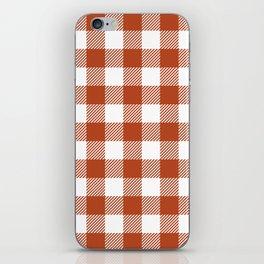 Buffalo Plaid - Dark Orange iPhone Skin