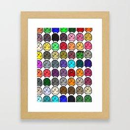 A variety of Snoobs. Framed Art Print