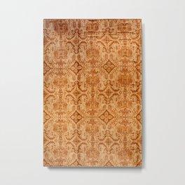 Oversized Vintage Turkish Oushak Carpet Print Metal Print