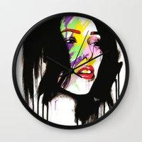 leia Wall Clocks featuring Leia by Robert Ekblom