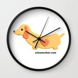 Kawaii Dachshund Dog Wall Clock
