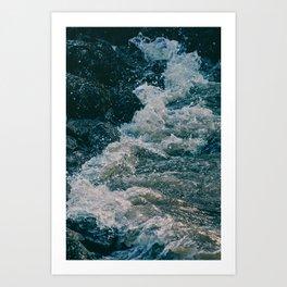 East River Bank - New York Art Print