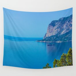 Blue Seascape Wall Tapestry