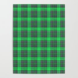 Lunchbox Green Plaid Poster