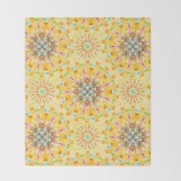 Sunshine Mandala Throw Blanket