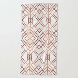 Copper Geo Beach Towel