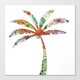Palm Tree Fabric Canvas Print