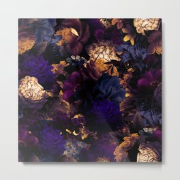 melancholy flowers big seamless pattern 01 late sunset Metal Print