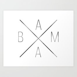 Across Alabama Art Print