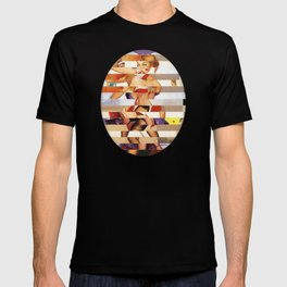 Glitch Pin-Up Redux: Amber T-shirt