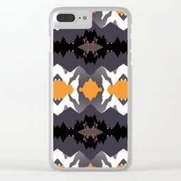 Vintage Montana travel poster pattern Clear iPhone Case