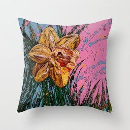 Barbara's flower Remix 1 Throw Pillow