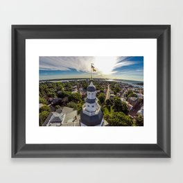 Maryland State House by Air Framed Art Print