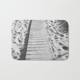 board walk b&w Bath Mat