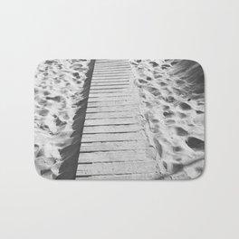 board walk b&w Bath Mat