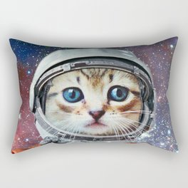 Astronaut Cat #4 Rectangular Pillow
