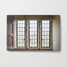 English Countryside Window Metal Print