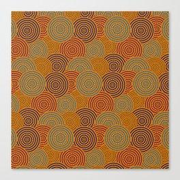 Desert Circles - Burnt Orange Canvas Print