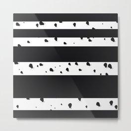 Paint Splatters with Stripes Metal Print