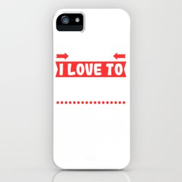 """Looking For Kicking Tee For A Kicker You Saying """"Careful I Love To Kick Balls"""" T-shirt Design iPhone Case"""
