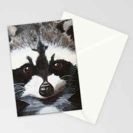 Raccoon - Charley - by LiliFlore Stationery Cards