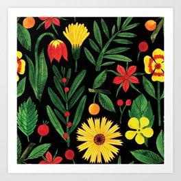 Botanic Watercolor Collection #5 Art Print