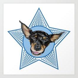 Adopt (Blue) Art Print