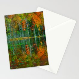 Forest and Lake Reflection Stationery Cards
