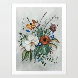 Moody Magnolia Arrangement Art Print