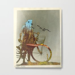 She said, Don't look back, you just come on'  Metal Print