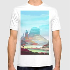 On another planet 2 White Mens Fitted Tee MEDIUM