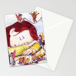 Playful fairies Stationery Cards