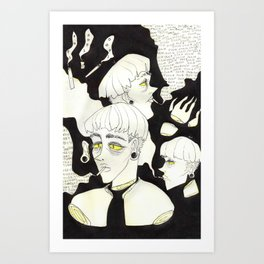 ouch! sorry! Art Print