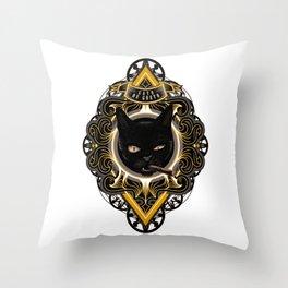 Gato de Gueto Throw Pillow