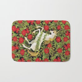 Christmas Unicorn Bath Mat