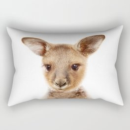 Baby Kangaroo, Baby Animals Art Print By Synplus Rectangular Pillow