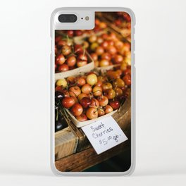 Cherries at Hurd Orchard Clear iPhone Case