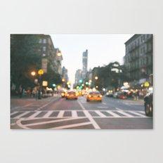 New York City Blur Canvas Print