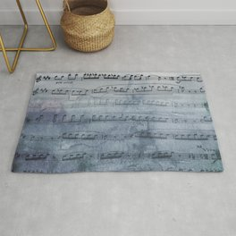 Almost Gray Mood Music Rug