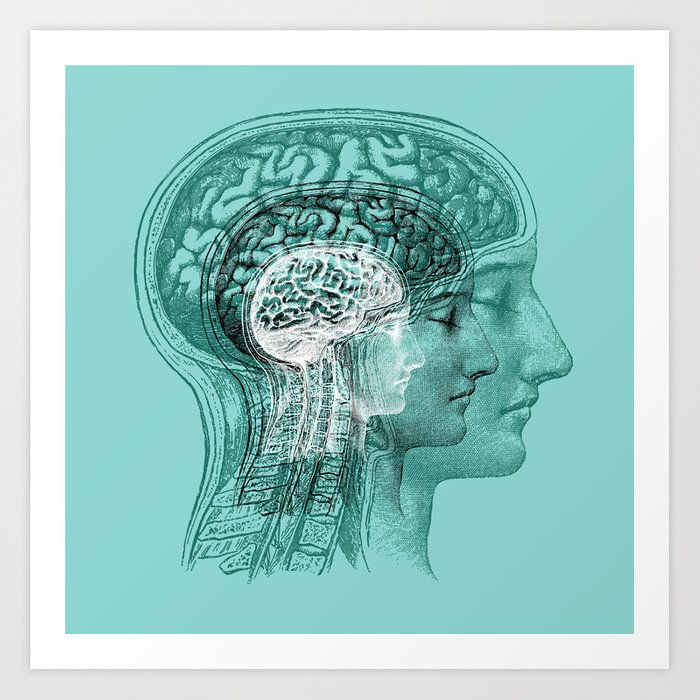 Meditating Brain Art Print