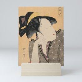 Vintage Japanese Ukiyo-e Woodblock Print Woman Portrait IV Mini Art Print