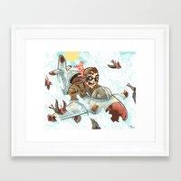 dad Framed Art Prints featuring Dad  by Logan  Faerber