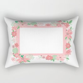 Frame with flowers Rectangular Pillow