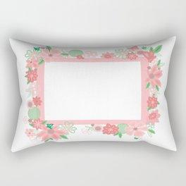 Frame with flowers Rectangular Pillow